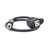 Cabo Adaptador USB Tipo B Macho/Fêmea 30 cm