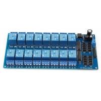 Módulo Rele 16 Canais 12V OptoAcoplado